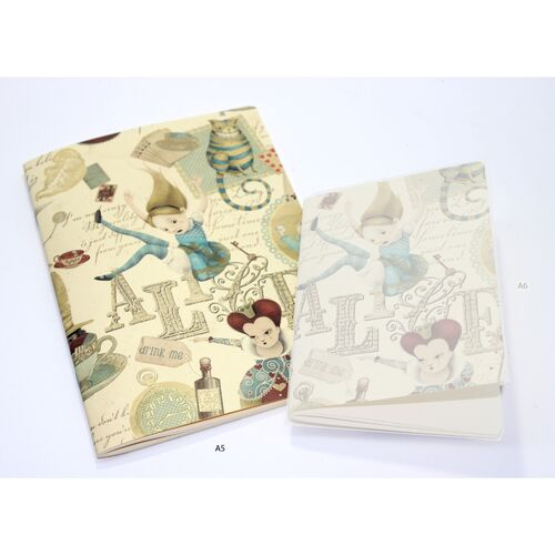 Alice in Wonderland Softcover Journal Kartos