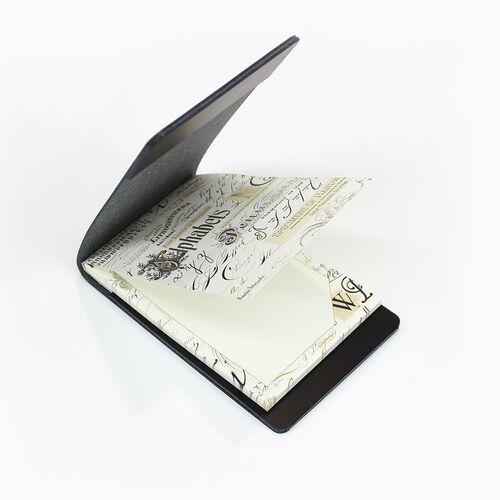 Calligraphy memo pad with Black Memo Holder