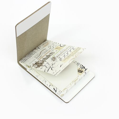 Calligraphy memo pad with White Memo Holder