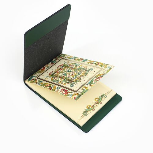 Signoria memo pad with Forest Green Memo Holder