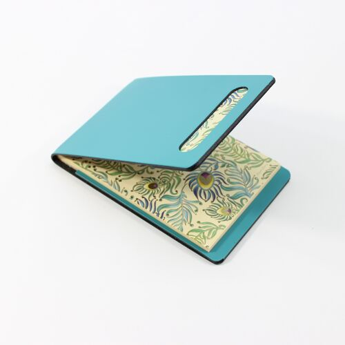 Peacock Memo Holder in Teal