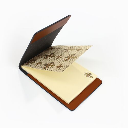 Lilium memo pad with Cognac Memo Holder
