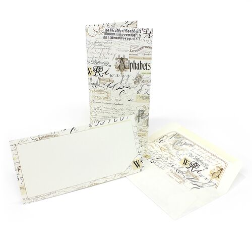 Calligraphy Card Portfolio Long