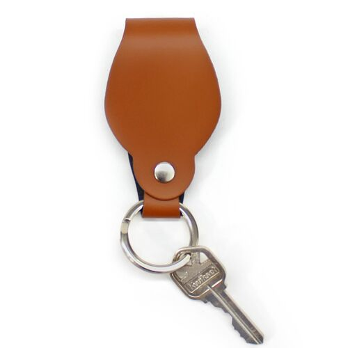 Firenze Round Key Chain Strap is made of Recycled Leather