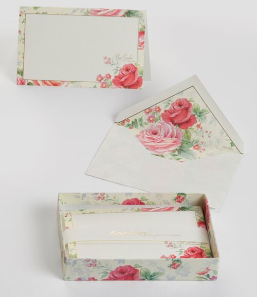 Rose Garden Boxed Fold Over Cards